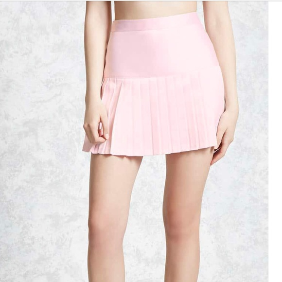 a352e5954 Forever 21 Skirts   Drop Waist Light Pink Pleated Mini Skirt   Poshmark